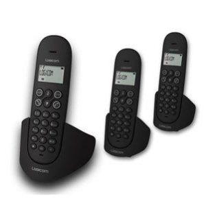 Logicom Luna 350 - Téléphone sans fil 3 combinés