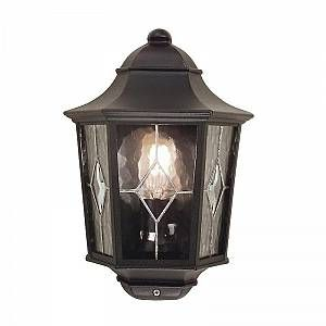 Elstead Applique Murale demi lanterne Norfolk 1x100W - Noir - LIGHTING - nr72