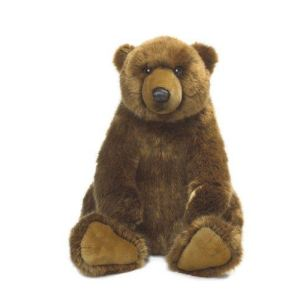 WWF Peluche Grizzly assis 47 cm