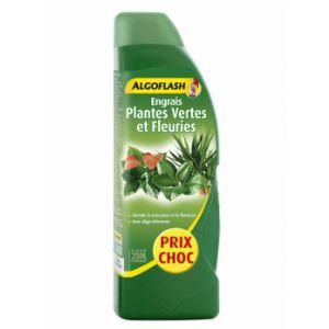 Algoflash Engrais liquide plantes vertes et fleuries 1 L