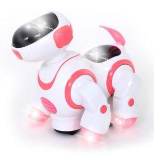 Mgm Chien robot musical et lumineux 20 cm