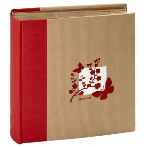 Panodia Album relié à pochettes - Greenhearth - 11,5x15 cm - rouge - 200 vues