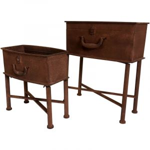 Bentley Charles Rust Effet Valise Planters (Set of Two)