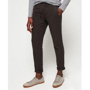 Superdry Pantalon de plage en lin International - Couleur Noir - Taille 32/32