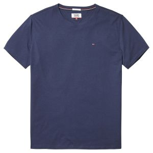 Tommy Jeans Homme Original Jersey T-Shirt Manches Courtes Bleu