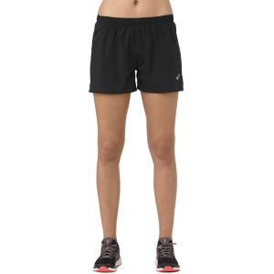 Asics Silver - Short running Femme - noir L Collants & Shorts Running