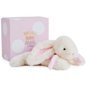 Doudou et Compagnie Doudou lapin bonbon rose 25 cm