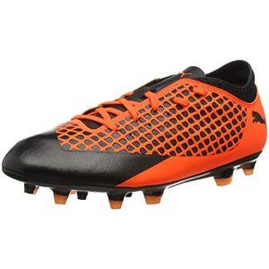Puma Future 2.4 FG/AG Jr, Chaussures de Football Mixte Enfant, Noir Black-Shocking Orange 02, 32 EU