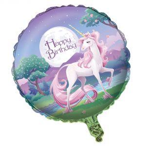 Ballon en aluminium Licorne magique (46 cm)