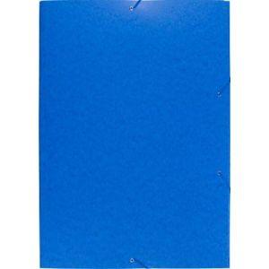 Exacompta 59652E - Chemise à élastique 3 rabats Carte lustrée, Format A2, coloris bleu