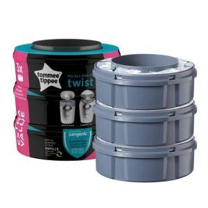 Tommee tippee Recharges poubelles Twist & Click x3 - Compatibles avec Bac TEC