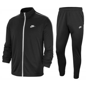 Nike M NSW CE TRK Suit PK Basic Survêtement Homme, Black White, FR : L (Taille Fabricant : L)