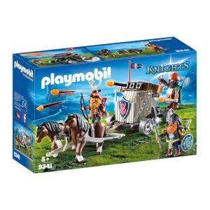 Playmobil 9341 - Knights : Char de combat avec baliste et nains