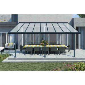 Palram Pergola aluminium extensible Elite 16,5m² - 260-305x555x295 cm - Gris