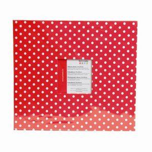 Artémio Album à fenêtre rouge à pois blancs 30x30cm