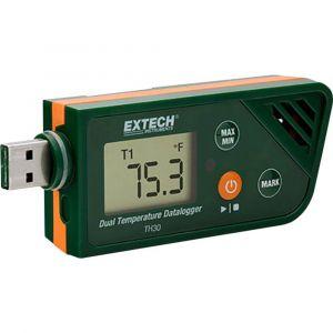 Extech Enregistreur de données de température TH30 Unité de mesure température -30 à +70 °C fonction PDF Etalonna