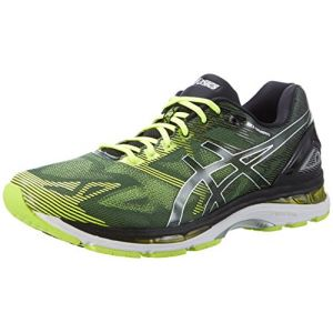 Asics Gel-Nimbus 19, Chaussures de Course pour Entraînement sur Route Homme, Multicolore (Black/Safety Yellow/Silver), 40 EU