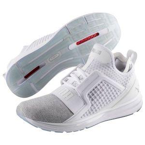 Puma Ignite Limitless Knit, Chaussures de Cross Homme, Blanc White Silver, 41 EU