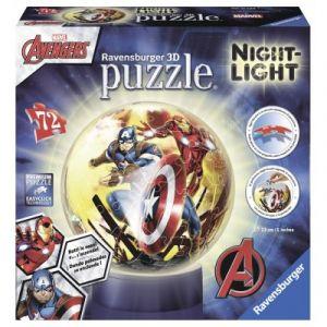 Ravensburger Avengers - Puzzle ball 72 pièces lumineux la nuit