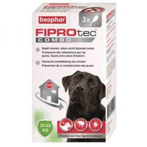 Beaphar Fiprotec Combo grands chiens 20-40 kg 3 pipettes