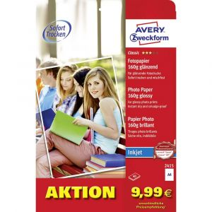 Avery-Zweckform Papier photo Photo Paper glossy DIN A4 160 g/m² 40 feuille brillant