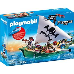 Playmobil Pirates Figurine chaloupe pirate à moteur submersible 70151