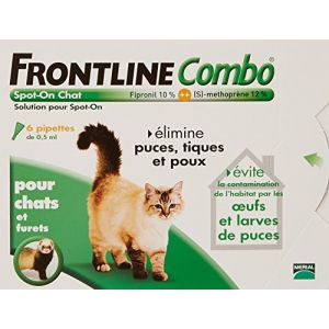 Frontline Combo Spot On pour chats 6 pipettes