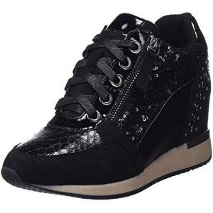 Xti Chaussures Basket compensée Noir - Taille 38,39,40