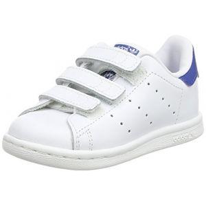 Adidas Stan Smith, Chaussures Bébé marche Mixte, Blanc FTWR White/EQT Blue S16), 21 EU