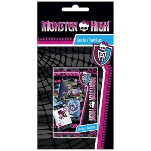 France Cartes Jeu 7 Famille : Monster High Blister
