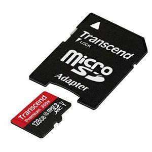 Transcend TS128GUSDU1 - Carte mémoire Premium MicroSDXC 128 Go Class 10 UHS-I 300x avec adaptateur