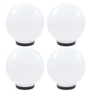 VidaXL Lampes à LED sous forme de boule 4 pcs Sphérique 25 cm PMMA