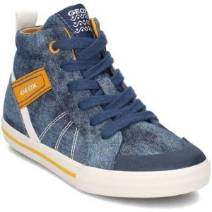 Geox J Kilwi H, Baskets Hautes Garçon, Bleu (Blue/Yellow), 26 EU