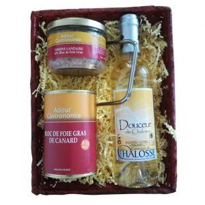 Adour Gastronomie Coffret Plaisir - Foie gras, terrine landaise et Coteaux de Chalosse