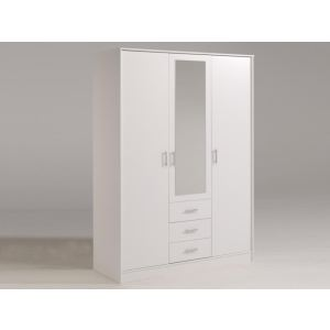 Armoire Ermin 5, 3 portes 4 étagères (147,7 x 202 cm)