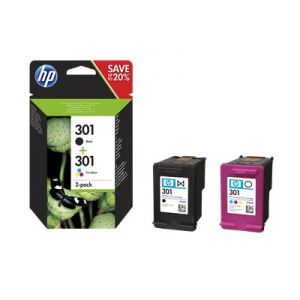 HP N9J72AE - Combo 2-Pack BK/Color n°301
