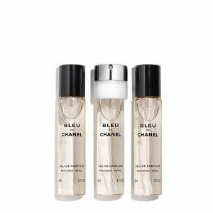 Chanel Bleu de Chanel - Eau de parfum pour homme - 3 x 20 ml (Recharges)
