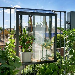 Juliana Serre urbaine Balcony en verre trempé avec étagères