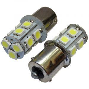 Aerzetix : 2x ampoule 24V P21W R10W R5W 13LED SMD blanc pour camion semi-remorque porte de garage portail