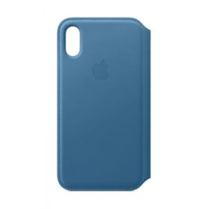 Apple Etui iPhone Xs Folio Bleu Cape Cod