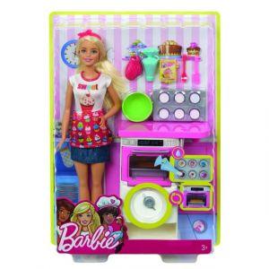 Mattel Poupée Barbie Coffret Pâtisserie