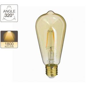 Xanlite Ampoule LED ST64, culot E14, 3,8W cons. (30W eq.), lumière blanc chaud