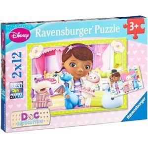 Ravensburger Puzzle Docteur la peluche : Clinique des jouets 2 x 12 pièces