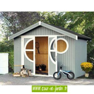 Baltic Oléron Design - Abri de jardin design bois peint et traité 7.3 m²