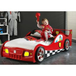 Someo Lit enfant voiture Led Racing (90 x 200 cm)