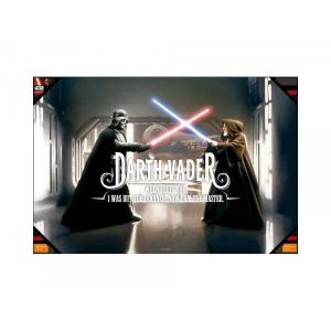 SD Toys Poster en verre Star Wars Vader When I Left You (60 x 90 cm)