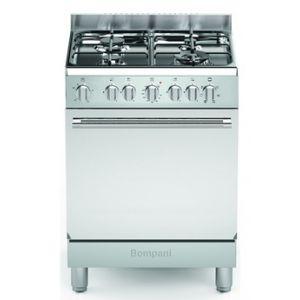 Bompani BOMFE66 - Cuisinière mixte 4 foyers gaz avec four électrique
