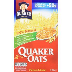 Quaker Oats Oats - Flocons d'avoine - La boîte de 500g