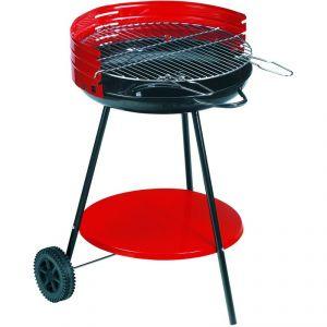 Alperk Camping - Barbecue à charbon sur roulettes ø50cm