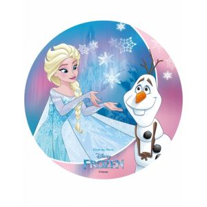 Image de Disque azyme La Reine des Neiges Olaf 20 cm